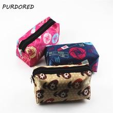 PURDORED 1 pc Rose Flower Makeup Bag Women Cosmetic Bag For Makeup Travel Toiletry Bag Organizer kosmetyczka Dropshipping