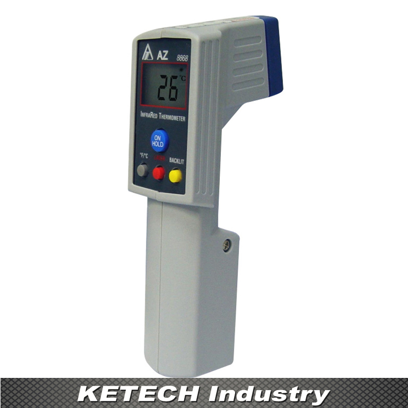 AZ-8868 Handheld Gun IR Infrared Thermometer az 8838 handheld 40 to 280c haccp ir infrared food thermometer