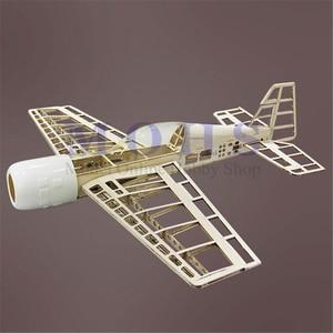 Image 4 - RC מטוסים BF109 עץ מטוס ערכות נחיתה ברדס חופה צירים כחול הדפסת קומבו RC בקנה מידה מטוס BF 109 ערכות קומבו