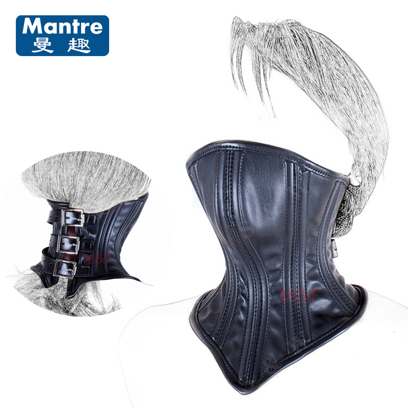 Collar Neck Ring Cover Mouth Bondage Restraints Head Harness Hood Mask Slave Fetish font b Sex
