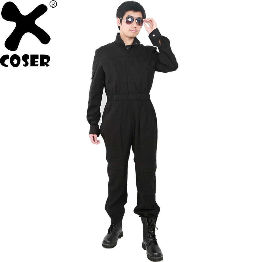 Здесь продается  XCOSER Tie Fighter Pilot Costume Star Wars Cosplay Custom Party Cool Cosplay Bodysuits Black Jumpsuits For Adult Men Women  Одежда и аксессуары