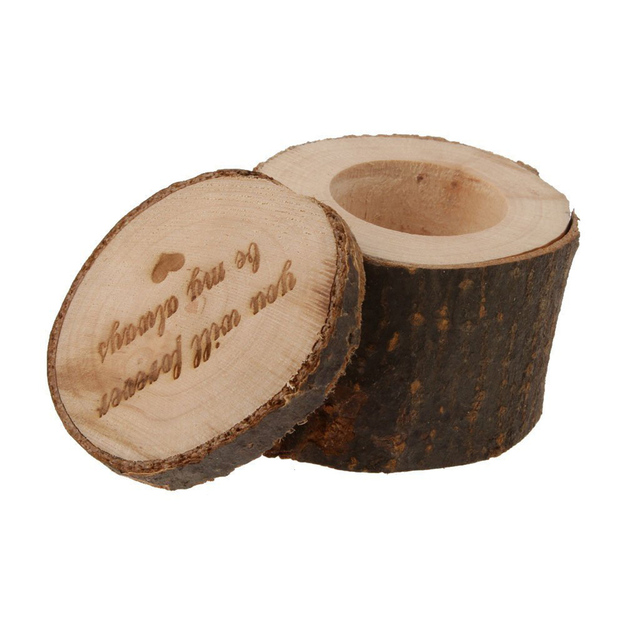 Wedding Vintage Wood Ring Box Rustic Decor Wooden Ring Holder For