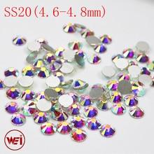 Nail Art,Clothing,Dress,Shoes,phone case 4.6~4.8mm Crystal AB Glass Flat back Strass Non Hot Fix Rhinestones