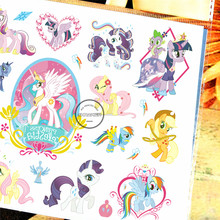 SHNAPIGN Little Pony Celestia Child Temporary Tattoo Body Art Flash Tattoo Stickers 17*10cm Waterproof Styling Tatoo Sticker