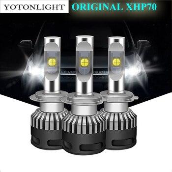 YOTONLIGHT 2Pcs XHP70 H4 H7 H11 Car Led Headlight 110W 13200LM 9005 9006 9012 H8 H9 HB3 HB4 Hir2 Led Light Bulb 6000K 12V Auto