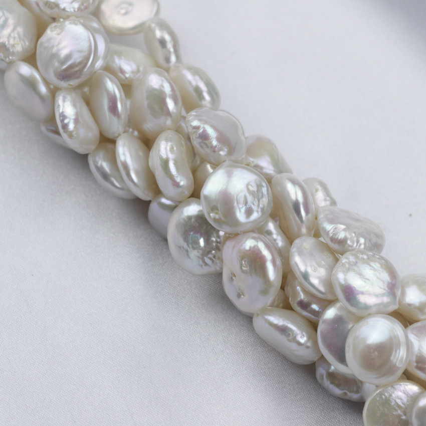 SNH 12mm 5 strands/package hot sale coin shape pearl strand wholesale 2017