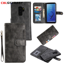 CBL 2 in 1 Magnetic Leather Wallet Case For Samsung S8 S9 Plus NOTE 9 8
