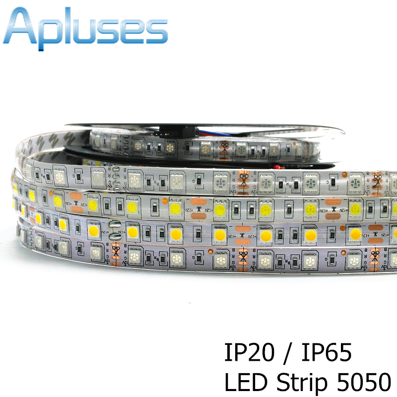 LED Strip 5050 DC 12V Fleksibel LED Light 5050 Pita LED RGB / Putih / Hangat Putih / Biru / Hijau / Merah