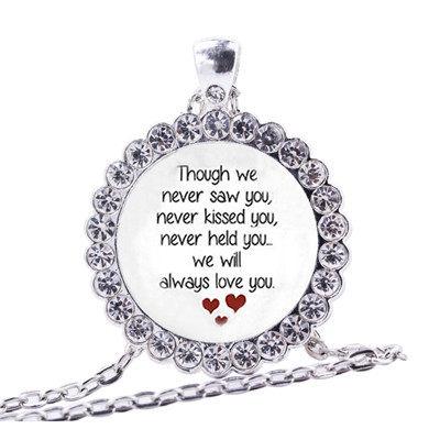 Online shop miscarriage keepsake necklace women loss of unborn 1 2 8 aloadofball Choice Image
