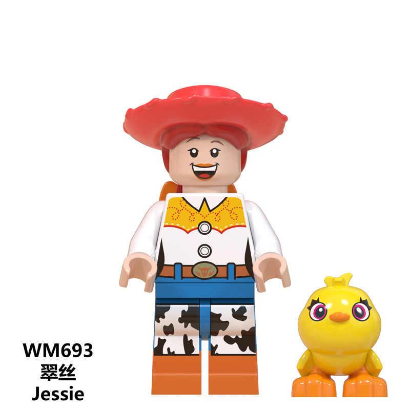 لعبة قصة 4 شخصيات ليجود فوركي جريملنز جيزمو ستيتش ماريو الغريبة e. T. مع إليوت ألعاب مكعبات البناء للأطفال