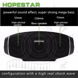 Image 5 - Hopestar, altavoz de Rugby con Bluetooth, Subwoofer Estéreo Portátil inalámbrico de columna de graves para exteriores, caja de sonido para TV y ordenador