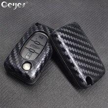 Ceyes автомобильные аксессуары стильный ключ Чехлы 2 3 кнопки защитные чехлы Чехол для peugeot 207 307 308 407 408 для Citroen C2 C3 C4 C5