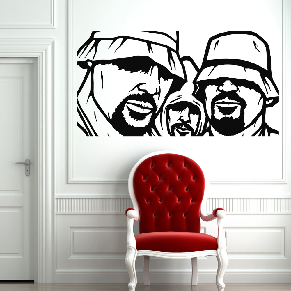 Rappers Rap Music Wall Stickers for Kids Rooms Wall Decals Living Room Home Decor Vinyl Stickers Muraux Home Decoration Art A296(China)