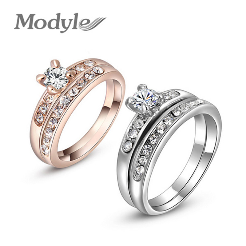 Online Buy Wholesale double rings wedding from China double rings