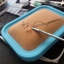 Kit de instrumentos de sutura cirúrgica estudante médica kit de ferramentas de sutura de pele de silicone modelo prática com agulha