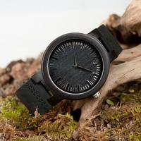 2017 New Brand BOBO BIRD Wood Watch Men Genuine Leather Band Wristwatch With Paper Gift Box