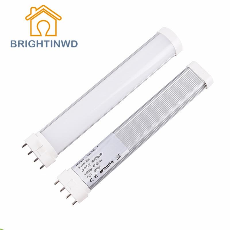 LED Lamp 2G11 Tube Light 9w 12w 16w 22w AC85-265V Epistar SMD CE & ROSH Warm White Cold
