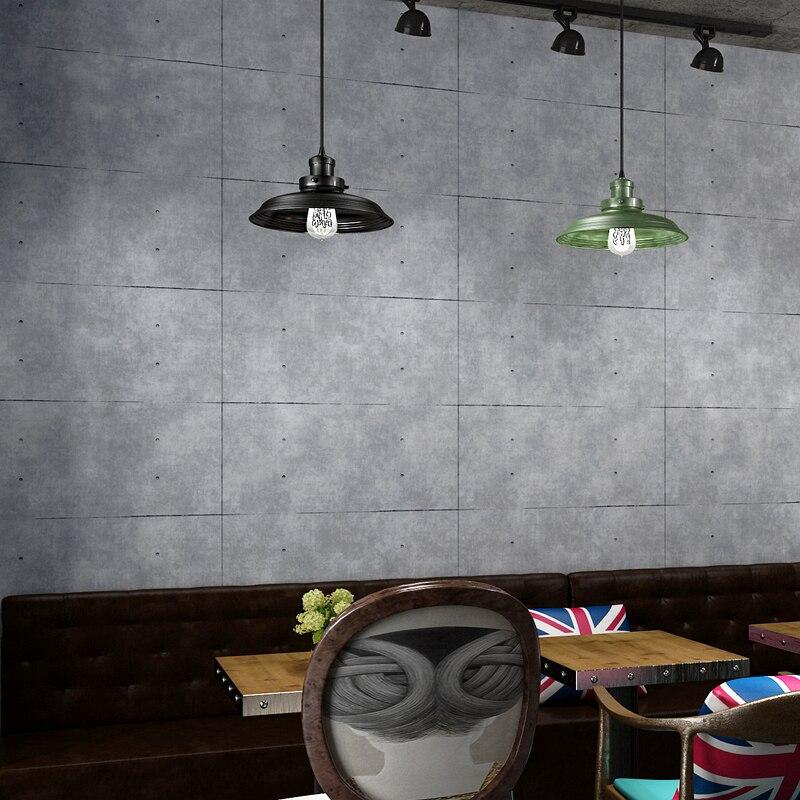 Vintage Grey Cement Wallpaper For Living Room Bar Restaurant Cafe Clothing Store Decor 3D Lattice PVC Vinyl Wall Paper Brick 2 sheet pcs 3d door stickers brick wallpaper wall sticker mural poster pvc waterproof decals living room bedroom home decor