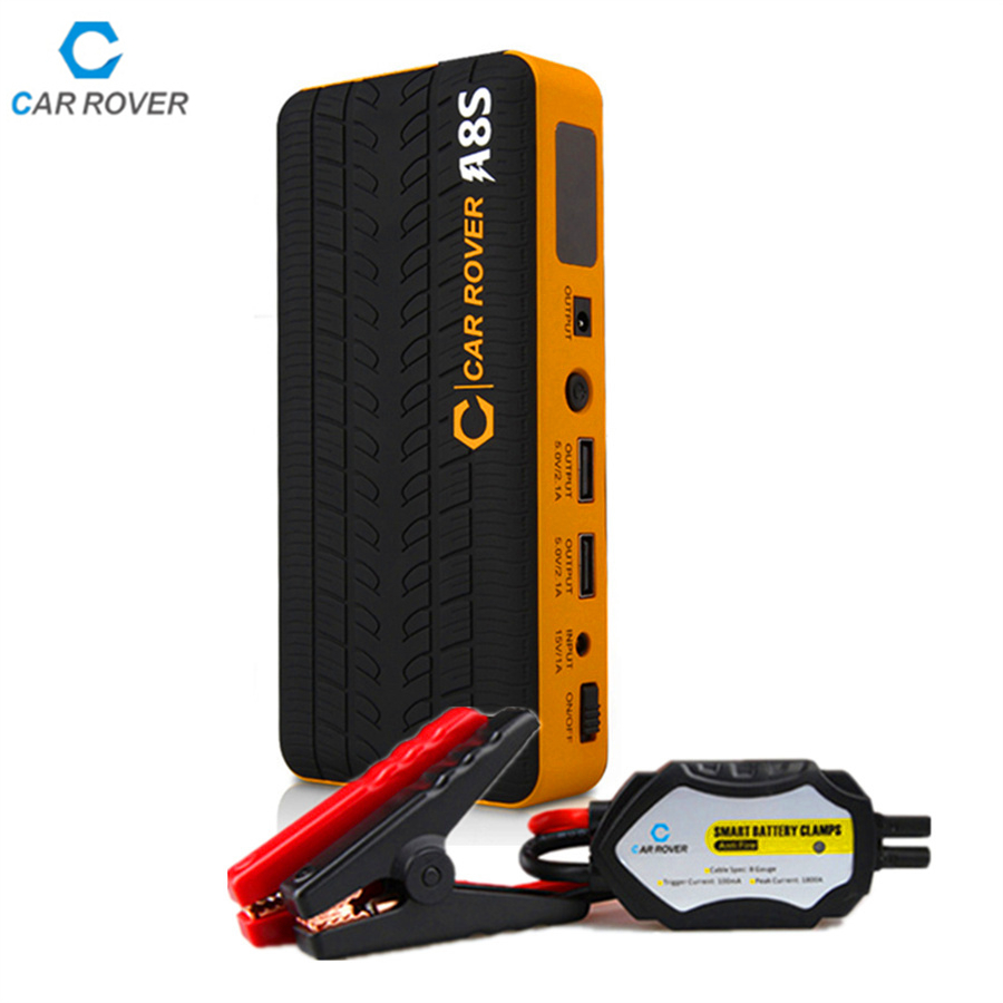 ФОТО New car jump starter 14000mAh power bank 12v emergency car battery booster Multi-function car jump starter 800A peak current