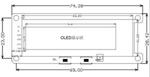 """Image 3 - Analizador de pantalla de espectro de música OLED de 2 """", amplificador de Audio MP3 para coche, indicador de nivel de Audio, Analizador de ritmo musical, pantalla grande de Medidor de VU"""