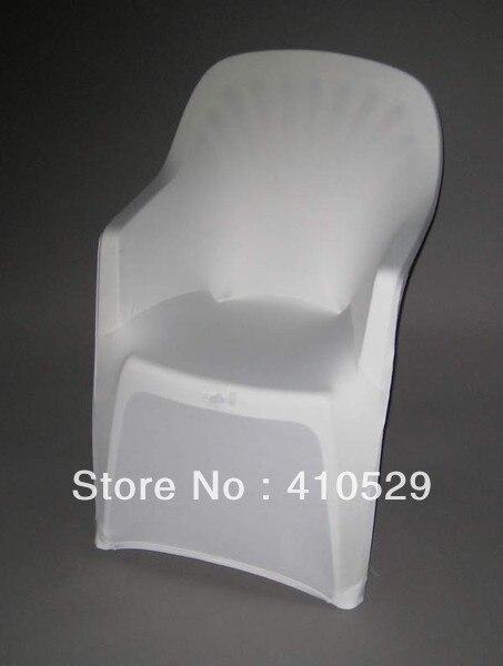 housses de chaise en spandex blanc livraison gratuite housse de chaise de plage en plastique
