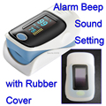 with soft rubber cover Finger pulse oximeter SPO2 PR monitor O LED display waveform 6 Display Modes Ossimetro oxymetre