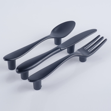 "3""Bar Spoon Fork Knife Knob Kitchen Cabinet Pull Drawer Pull Handles Bar Spoon Fork Knife handles"
