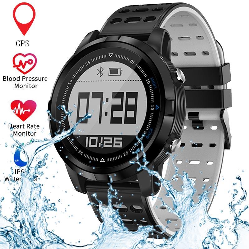 Bluetooth GPS Smart Watch Men Women Heart Rate Monitor Running Pedometer IP68 Waterproof Sports Watch For
