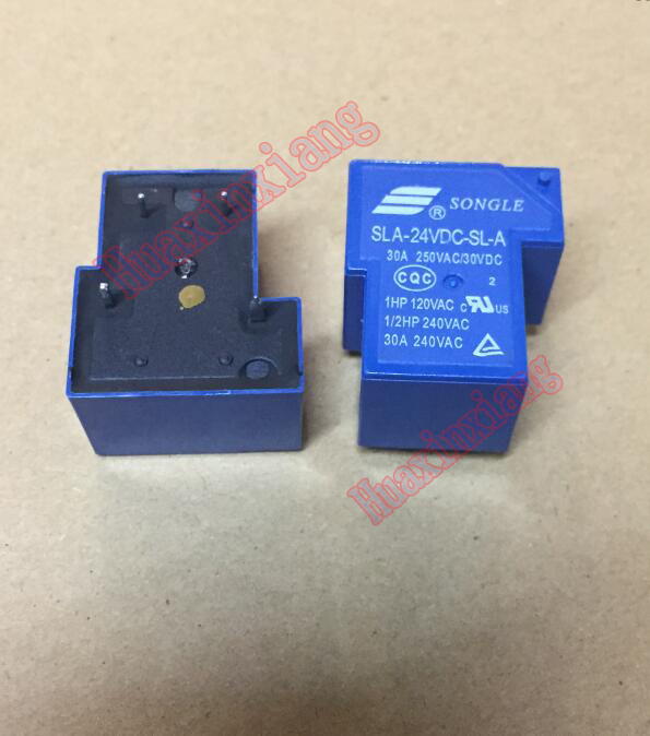10PCS/Lot SLA-24VDC-SL-A SLA-24VDC 24V 30A 4Pin T90 Power Relay 10pcs lot mcp2120 i sl mcp2120 soic new