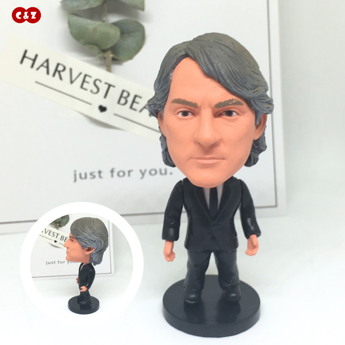 Soccerwe figurine football Roberto Mancini Movable joints resin model toy action figure dolls collectible gift