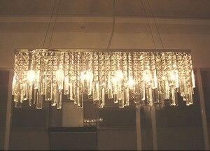 Image 5 - 現代中国シンプルなファッション創造長方形k9クリスタルledシャンデリアバーレストラン照明天井ランプledフィクスチャ