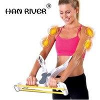 HANRIVER A nova redução de gordura emagrecimento massageador muscular casa portátil máquina de exercício braço jogando máquina cabo