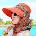 Новое прибытие Женские летние шапки защита от солнца водонепроницаемый вс шляпы