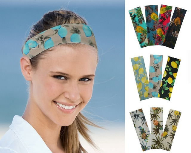 7a04156f101 Yoga Cotton Stretch Headbands Girls Boys Kids Fashion Printing Running  Sports Hair Bands Bandage Gum Hair