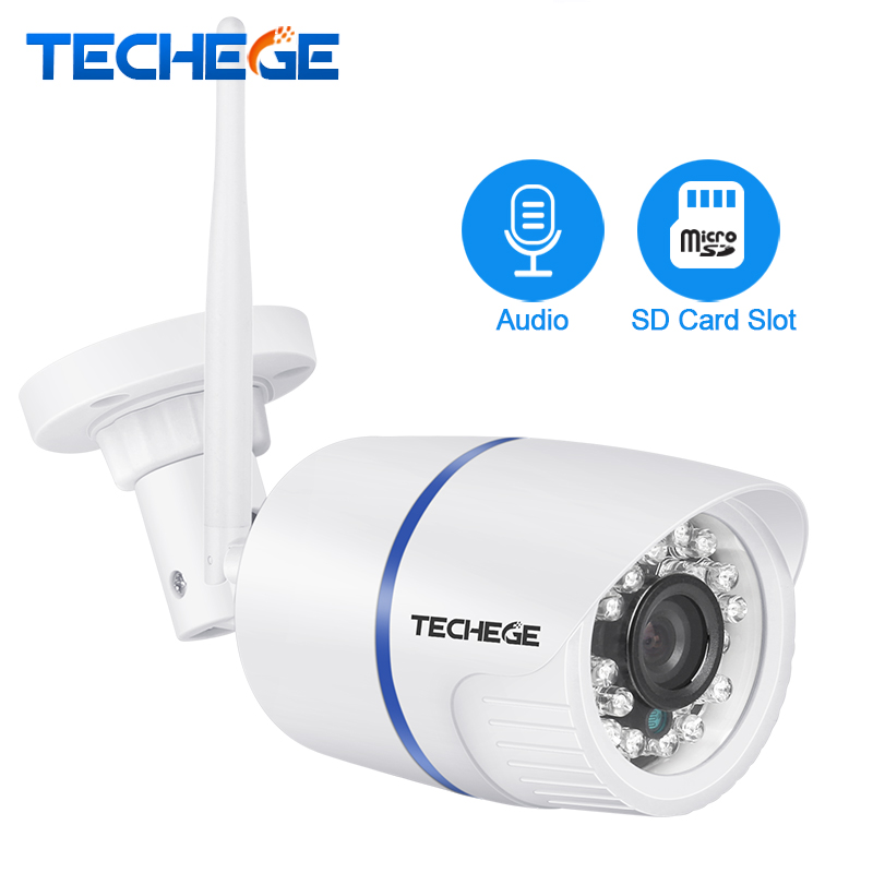 Techege 720P 960P 1080P WIFI IP Camera HD 2.0MP Audio wifi Camera Night Vision TF Card Slot Wireless Wired CCTV Camera P2P Onvif