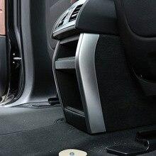 ABS Chrome заднего кондиционер на выходе Vent Обложка отделки полосы для BMW X5 X6 2014 2015 2016 автомобильные аксессуары