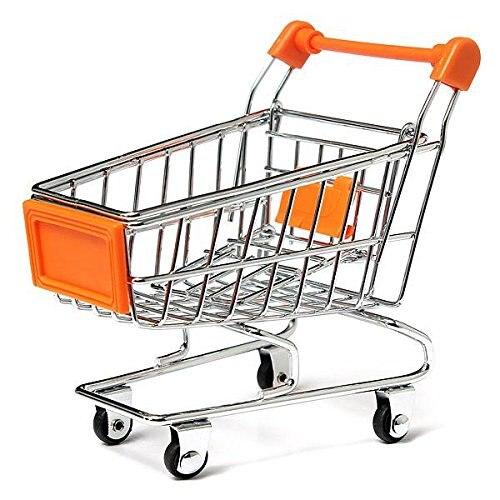 Funny Parrot toy bird Supermarket Shopping Intelligence Cart Basket