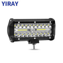 YIRAY 6 inch 120W 6000k LED Strip Light LED Work Light Bar Light for Motorcycle Tractor Boat Off Road 4WD 4x4 Truck SUV ATV цена и фото