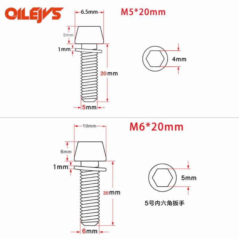 5 шт. MTB винт велосипедный M5x20mm/M6x20mm с прокладкой вынос руля Запчасти MTB дорожный велосипед дропшиппинг