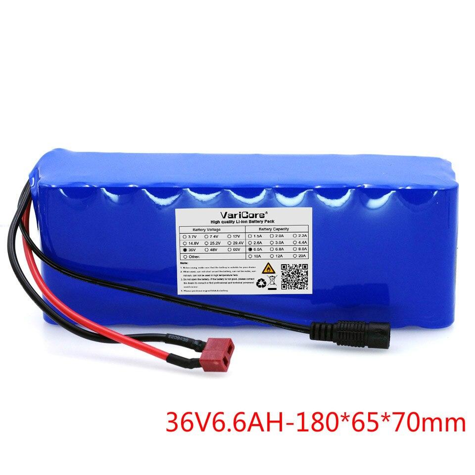 36 V 6.6Ah (10S3P) batteries rechargeables, changer de vélo, batterie de voiture électrique, batterie au lithium 42 V + livraison gratuite