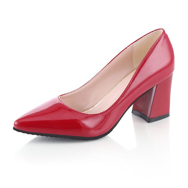 Shoes Women 6.5cm Block Heel Pointed Toe Comfortable Elegant Shoes Women  High Heels Sexy Party