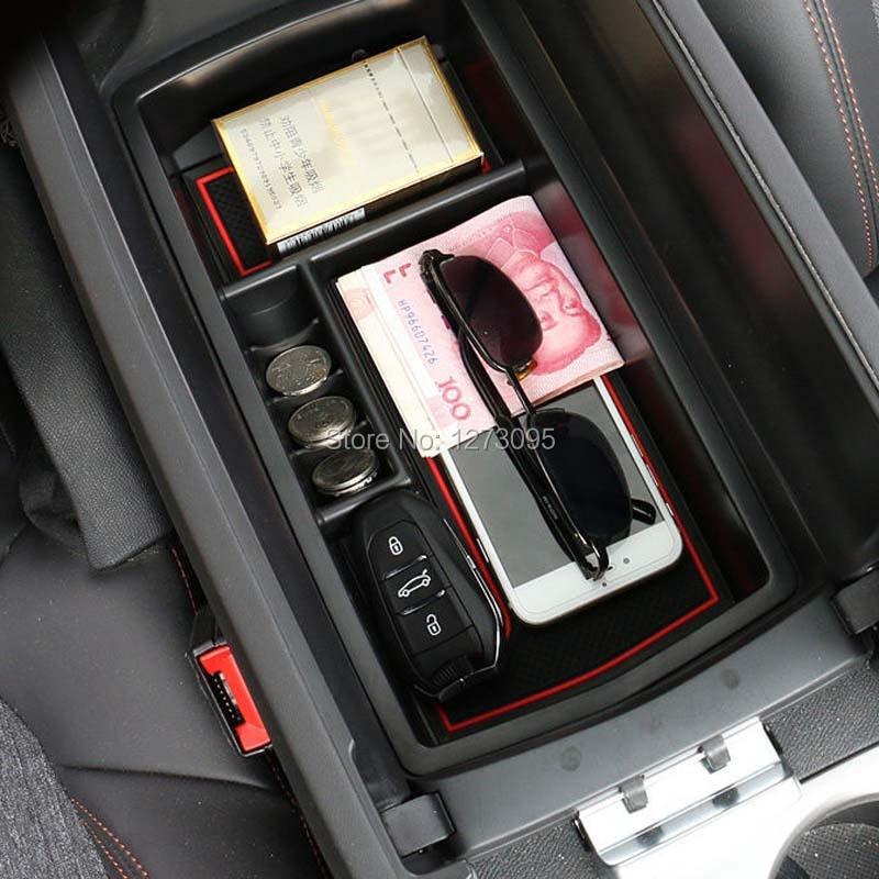 Plastik Innen Shifter Armlehne Aufbewahrungsbox für Hyundai Kona 2017-2018