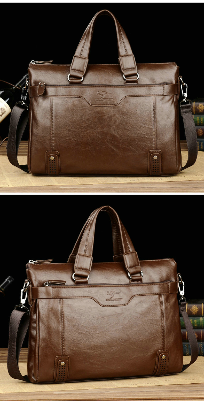 HTB1h5XBelGE3KVjSZFhq6AkaFXaL Cowhide Leather men's Briefcase men laptop male messenger bag Men's shoulder bags briefcases for documents bag