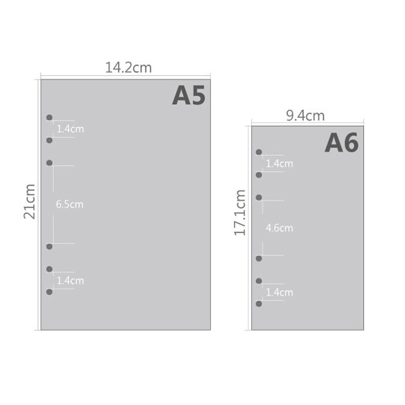 A5 A6 Cute Creative Barevný Diario Binder Plnicí papír - Bloky a záznamní knihy - Fotografie 2