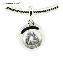 Flotante Locket cristal y claro CZ Cuentas 925 Sterling-plata-joyería para mujer pulsera de DIY plata pulsera del encanto