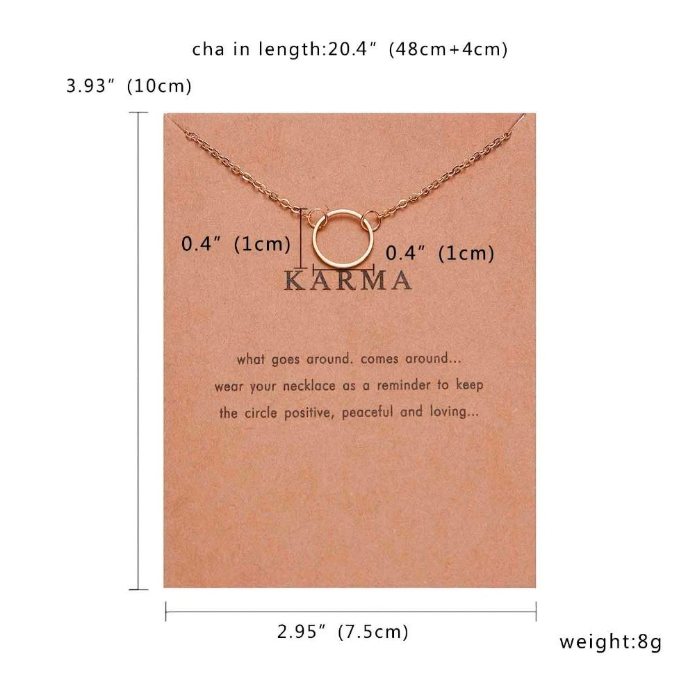 Rinhoo Karma, Двойная Цепочка, круглое ожерелье, золотое ожерелье с подвеской, модные цепочки на ключицы, массивное ожерелье, Женские Ювелирные изделия
