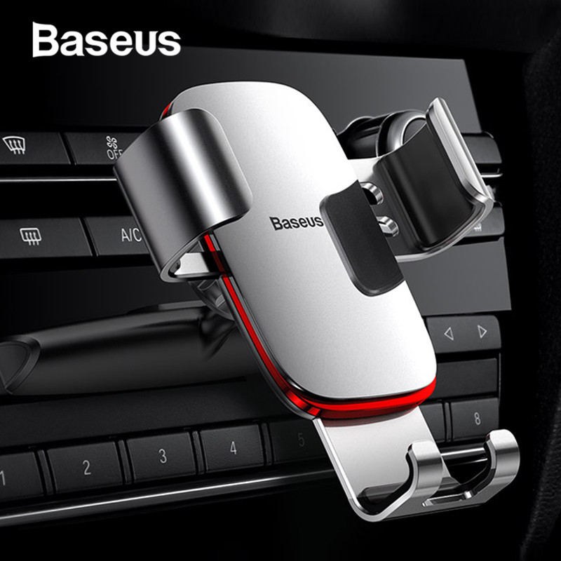 Baseus Gravity Car Phone Holder 360 Rotation Mobile Phone Stand Bracket CD Slot Mount