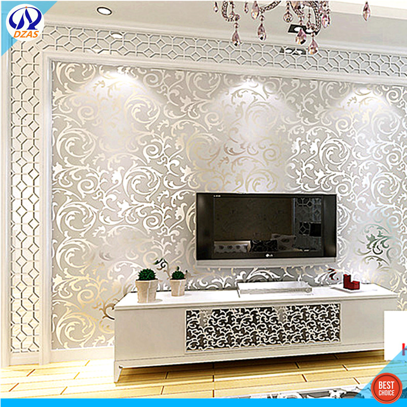 European Golden Leaf Gold Foil Wallpaper Gold Silver Ktv Ceiling Ceiling Living  Room Bedroom TV Background DZAS CJ Wallpaper In Wallpapers From Home ... Part 25