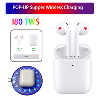 i80 TWS Pop up Touch Bluetooth Earphones Earbuds Wireless Air 2 Bass Headset Mini Replica & W1 Chip Earpieces For Phone LK TE9