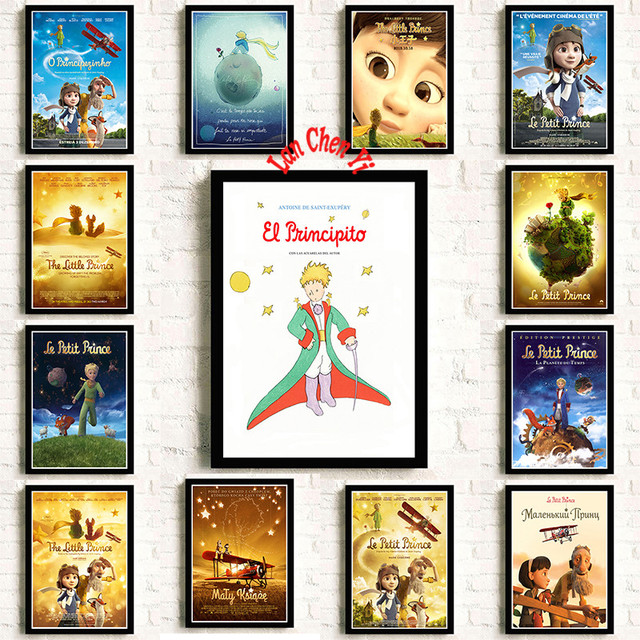 Classic Anime Le Petit Prince Coated Paper Poster Cafe